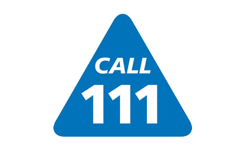 call 111 logo